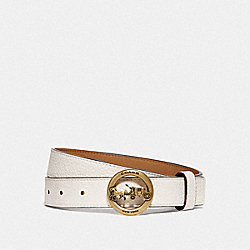 COACH F78181 Horse And Carriage Belt CHALK/ LIGHT SADDLE