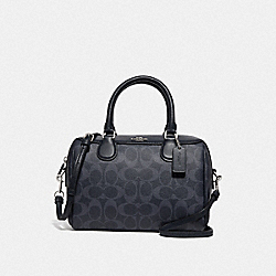 COACH F78263 - MINI BENNETT SATCHEL IN SIGNATURE CANVAS DENIM/SILVER