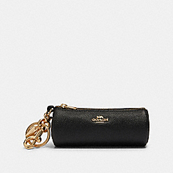 COACH F78295 Mini Pouch Bag Charm GD/BLACK