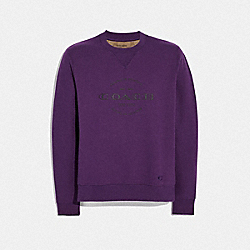COACH F78298 - COACH SWEATSHIRT DARK PURPLE