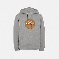 COACH F78299 - PULLOVER HOODIE HEATHER GREY