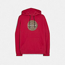 COACH F78299 - PULLOVER HOODIE RED