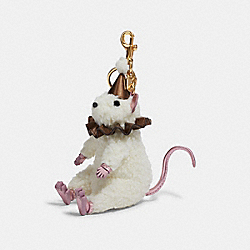 COACH F78320 - MOUSE BAG CHARM NATURAL