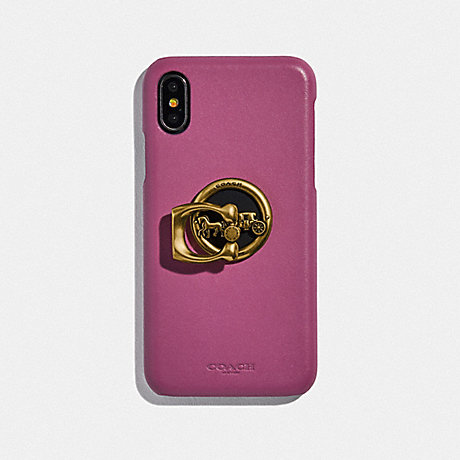 COACH HORSE AND CARRIAGE PHONE GRIP - GD/GOLD - F78365