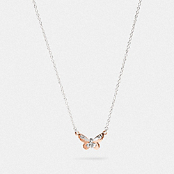 COACH F78378 - BUTTERFLY PENDANT NECKLACE SV/ROSEGOLD