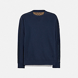 COACH F78443 - COACH TAPE SWEATSHIRT NAVY