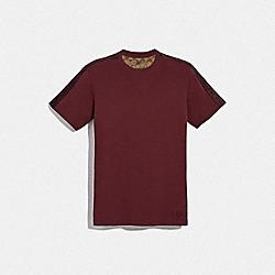 COACH F78444 Coach Tape T-shirt CURRANT