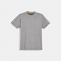 COACH F78444 - COACH TAPE T-SHIRT HEATHER GREY