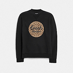 COACH F78451 - TRANSLUCENT COACH SWEATSHIRT BLACK