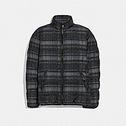 COACH F78454 Down Jacket SIG C PLAID