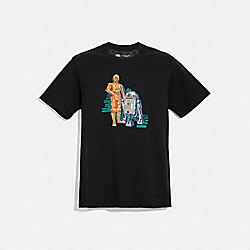 STAR WARS X COACH C-3PO AND R2-D2 T-SHIRT - F78457 - BLACK