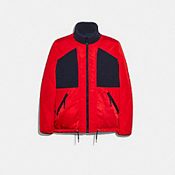 COACH F78476 Polar Fleece Jacket SPORT RED NAVY