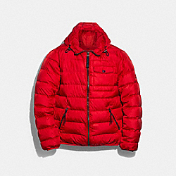 COACH F78477 Lightweight Down Jacket SPORT RED CADET