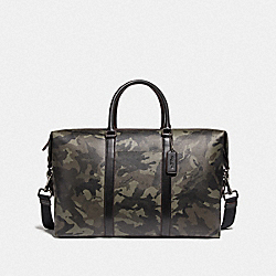 COACH F78498 - TREKKER BAG WITH CAMO PRINT GREEN/BLACK ANTIQUE NICKEL