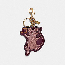 COACH F78518 Party Mouse Bag Charm GD/MULTI