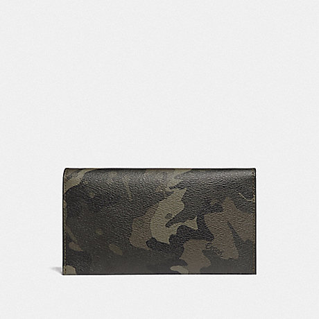 COACH F78684 LARGE UNIVERSAL PHONE CASE WITH CAMO PRINT GREEN/BLACK ANTIQUE NICKEL