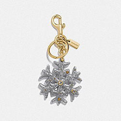 COACH F78689 Snowflake Bag Charm GD/SILVER