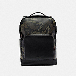 GRAHAM BACKPACK WITH CAMO PRINT - F78726 - GREEN/BLACK ANTIQUE NICKEL