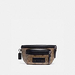 COACH F78727 - TERRAIN BELT BAG IN SIGNATURE CANVAS TAN/BLACK ANTIQUE NICKEL