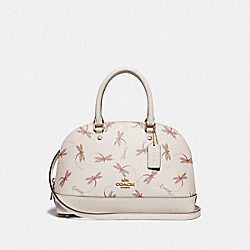 MINI SIERRA SATCHEL WITH DRAGONFLY PRINT - F78728 - IM/CHALK MULTI