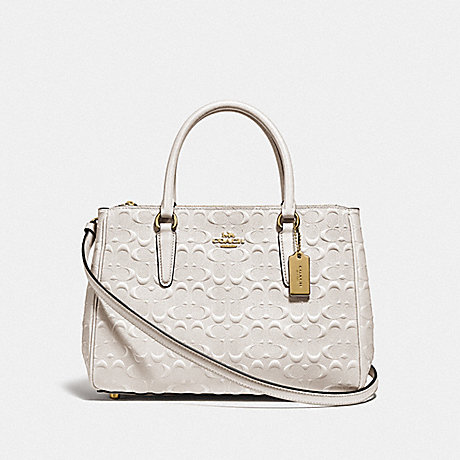 COACH F78751 SURREY CARRYALL IN SIGNATURE LEATHER CHALK/IMITATION GOLD