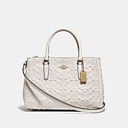 SURREY CARRYALL IN SIGNATURE LEATHER - F78751 - CHALK/IMITATION GOLD