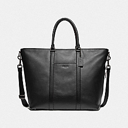 COACH F78768 Trekker Tote BLACK/BLACK ANTIQUE NICKEL