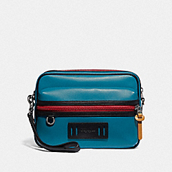 TERRAIN POUCH IN COLORBLOCK - F78779 - DARK ATLANTIC/BLACK ANTIQUE NICKEL