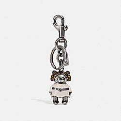 COACH F78815 Star Wars X Coach Princess Leia Bear Bag Charm SV/CHALK