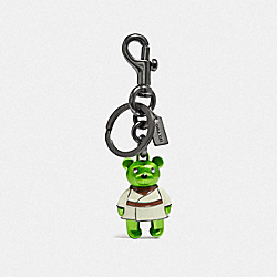 STAR WARS X COACH YODA BEAR BAG CHARM - F78817 - QB/GREEN