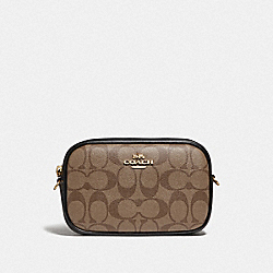 COACH F79209 - CONVERTIBLE BELT BAG IN SIGNATURE CANVAS KHAKI/BLACK/IMITATION GOLD