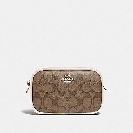 COACH F79209 CONVERTIBLE BELT BAG IN SIGNATURE CANVAS KHAKI/CHALK/GOLD