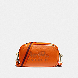 CONVERTIBLE BELT BAG - F79212 - DARK ORANGE/GOLD