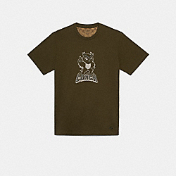 COACH F79216 - PARTY OWL T-SHIRT MOSS