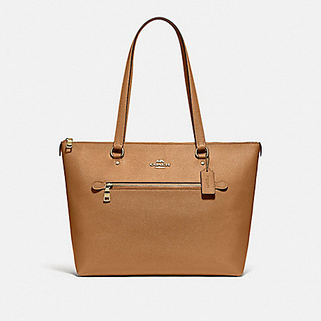 COACH F79608 GALLERY TOTE IM/LIGHT-SADDLE