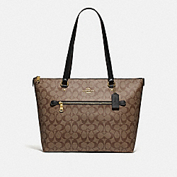 COACH F79609 - GALLERY TOTE IN SIGNATURE CANVAS IM/KHAKI/BLACK