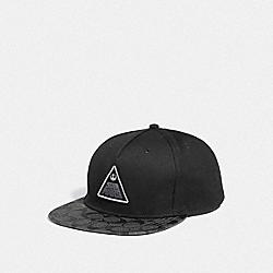 COACH F79652 Star Wars X Coach Flat Brim Hat BLACK