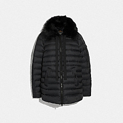 DOWN JACKET WITH SHEARLING COLLAR - F79683 - BLACK