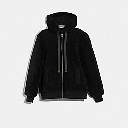 COACH F79692 - TEDDY BEAR ZIP HOODIE BLACK
