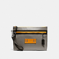 CARRYALL POUCH IN COLORBLOCK - F79780 - QB/HEATHER GREY/AMBER MULTI