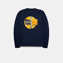 COACH F79785 Sweatshirt With Coach Traffic Light NAVY