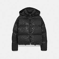 COACH F79789 - SIGNATURE SHORT PUFFER BLACK