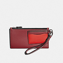 COACH F79797 - SLG TRIO IN COLORBLOCK QB/SOFT RED/ HOT RED MULTI