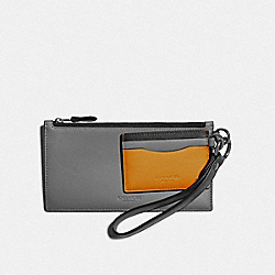 COACH F79797 - SLG TRIO IN COLORBLOCK QB/HEATHER GREY/AMBER MULTI