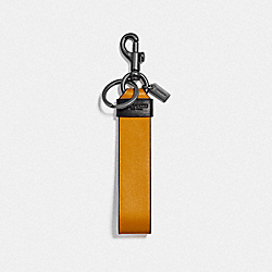 COACH F79798QBPNC Large Loop Key Fob QB/AMBER HEATHER GREY