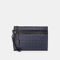 COACH F79811 Carryall Pouch With Signature Quilting NI/MIDNIGHT