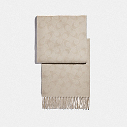 COACH F79816 Reversible Signature Muffler CHALK