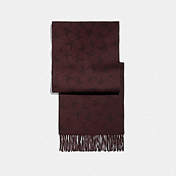COACH F79816 - REVERSIBLE SIGNATURE MUFFLER OXBLOOD