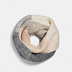 COACH F79820 Infinity Knit Scarf CAMEL/GREY