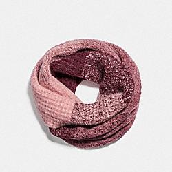 COACH F79820 Infinity Knit Scarf PINK/WINE